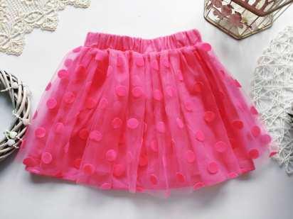 3,4 года, рост 98,104 Розовая фатиновая юбка