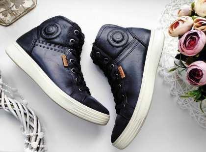 34 (22-22,5 см) Кожаные демисезонные ботинки
