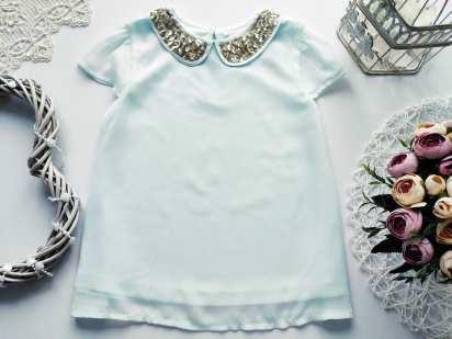 6,7 лет, рост 116,122 Мятная детская блузочка