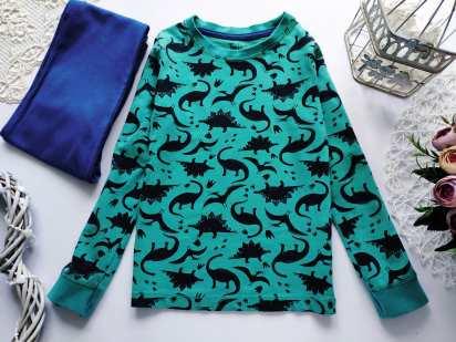 6,7 лет, рост 116,122 Пижама в динозаврах