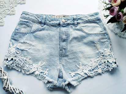 12 (L-ка) Стильные рваные женские шорты