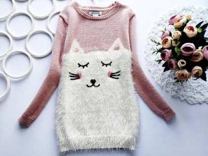 5,6 лет, рост 116 Удленненный детский свитерок