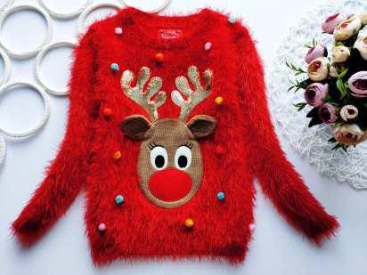 4,5 лет, рост 110 Новогодний свитер с мигалкой