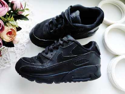 30-31 (19,5 см) Черные кожаные кроссовки