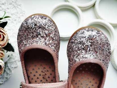 22 (14 см) Блестящие детские туфли