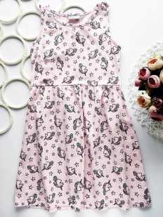 9 лет, рост 134 Платье в единорогах