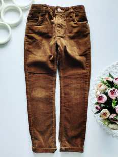 7 лет, рост 122 Вельветовые штаны