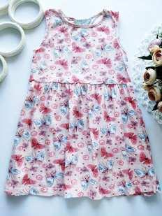 5,6 лет, рост 116 Летнее детское платье