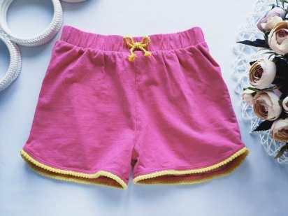 5,6 лет, рост 110,116 Розовые шорты