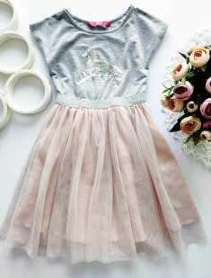4,5 лет, рост 110 Платье с единорожком