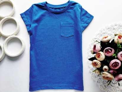 4 года, рост 104 Синяя футболка
