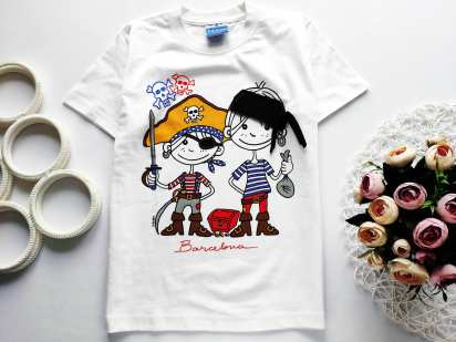 8 лет, рост 128 Новая футболка с Пиратами