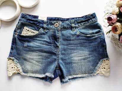 10 лет, рост 140 Новые джинсовые шорты