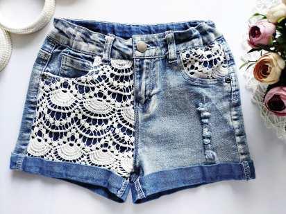 9,10 лет, рост 134,140 Стрейчевые джинсовые шорты