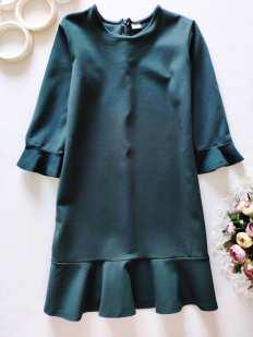 13 лет, рост 158 Плотное демисезонное платье