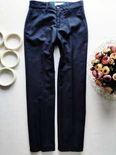 11 лет, рост 146 Синие брюки для мальчика