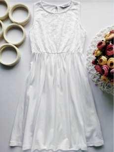 8,9 лет, рост 134 Белое платье