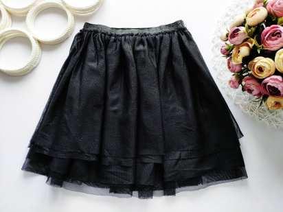 6,7 лет, рост 122 Черная фатиновая юбка
