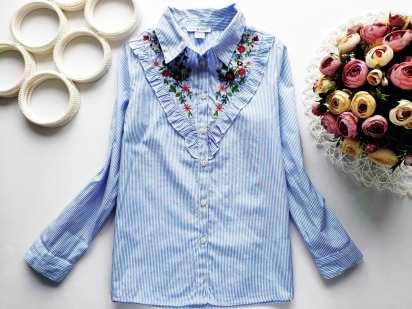 8,9 лет, рост 134 Блузка- рубашка для девочки