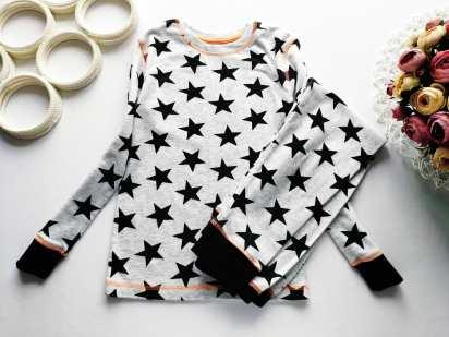 6-8 лет, рост 116-122 Пижама в звездах
