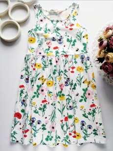 6,8 лет, рост 122,128 Цветочное детское платье
