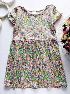 3,4 года, рост 104 Цветочное детское платье