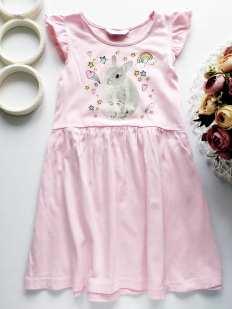 5,6 лет, рост 116 Платье с кроликом