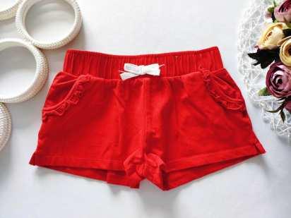 6,7 лет, рост 116,122 Красные хлопковые шорты