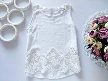 5,6 лет, рост 116 Белая блузка