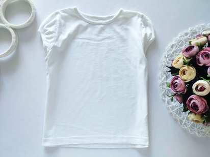 6,7 лет, рост 116,122 Белая футболка