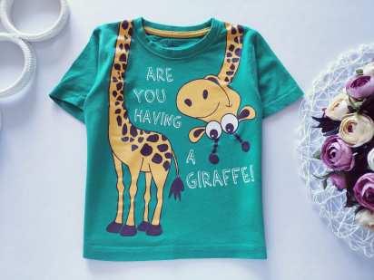 2,3 года, рост 92, 98 Футболка с жирафом