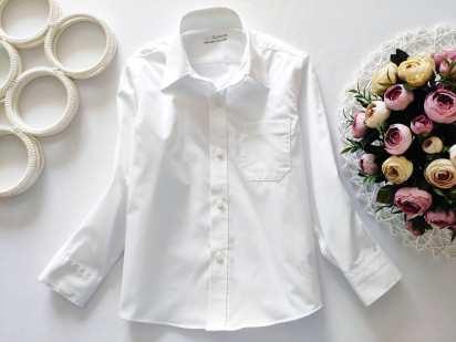 4,5 лет, рост 110 Белая рубашка