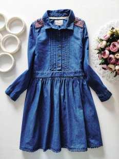 9 лет, рост 134 Джинсовое платье