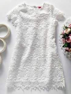 5,6 лет, рост 116 Белое нарядное платье