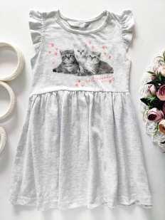 4,5 лет, рост 104,110 Платье с котятами