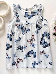 9,12 мес, рост 80 Платье в бабочках