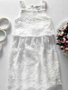 9,10 лет, рост 140 Белое нарядное платье