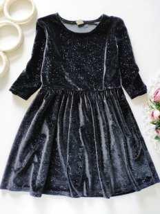 6 лет, рост 116 Блестящее бархатное платье