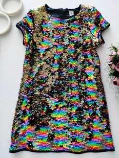8 лет, рост 128 Платье в паетках