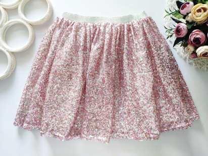 9 лет, рост 134 Блестящая юбка