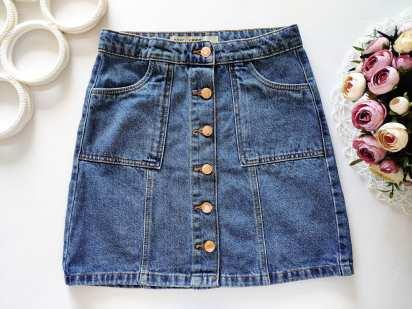 11\12 лет, рост 152 Новая джинсовая юбка