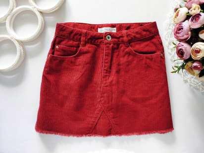9 лет, рост 134 Вельветовая бордовая юбка
