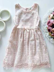 4-6 лет, рост 110\116 Ажурное платье