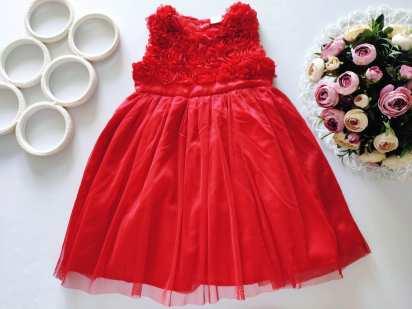18\24 мес, рост 86,92 Пышное красное платье