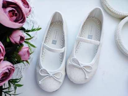 25 (15,5 см) Белые блестящие туфли