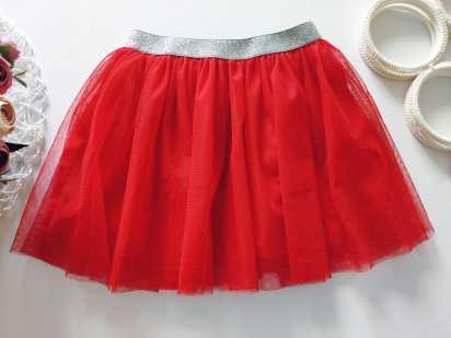 3,4 года, рост 98,104 Красная фатиновая юбка