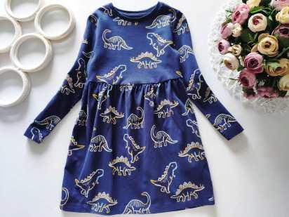 3,4 года, рост 104 Платье в динозаврах