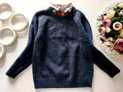 4,5 лет, рост 110 Теплый свитер- обманка