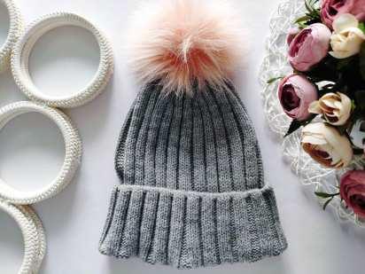 Теплая шапка one size