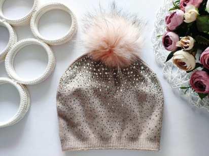 Шерсть! Новая  пудровая шапка